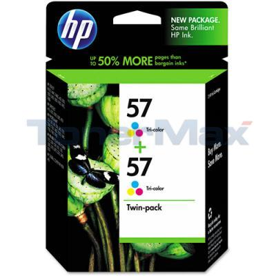 HP NO 57 INK CARTRIDGE TRI-COLOR TWIN-PACK